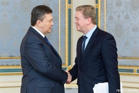 Wiktor Janukowytsch, Stefan Füle
