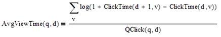 Durchschnittszeit, die Nutzer auf Dokument nach dem Klick bleibt