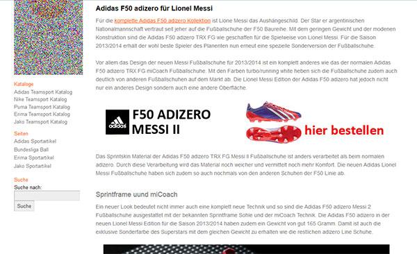 Adidas Sportschuhe kaufen. Beispiel 1