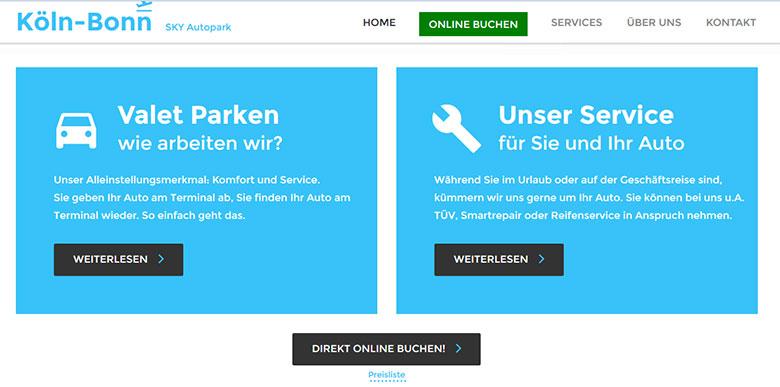 Airportparken Webdesign