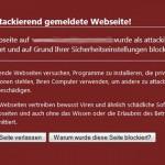 Diese Seite kann ihren Computer beschädigen. Als attackierend gemeldete Webseite. Erste Hilfe für Ihre Website