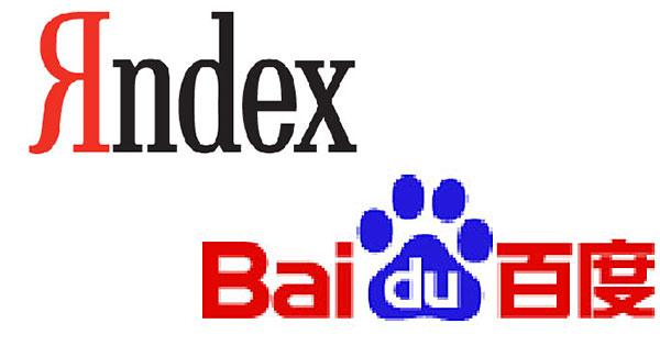 Baidu, Yandex