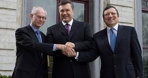 Barroso, Rompuy, Janukowytsch. Ein Treffen in Brüssel