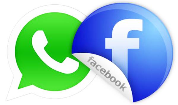 Facebook und WhatsApp Logo