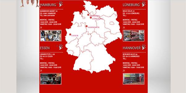 Cuidado-Sports. Deutschlandkarte
