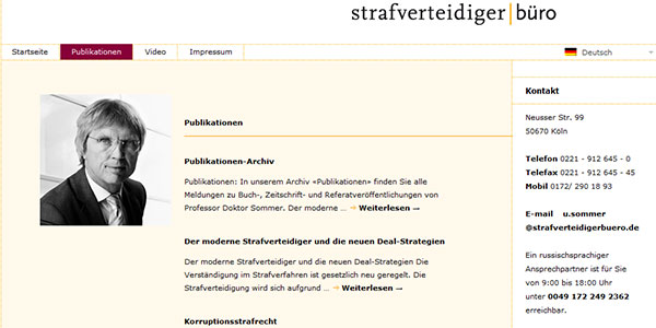 Dr. Sommer. Publikationen-Archiv