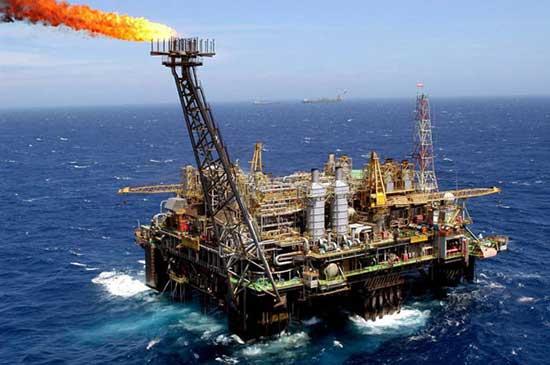 Exxonmobil Schwarzmeer. Schwimmende Plattform