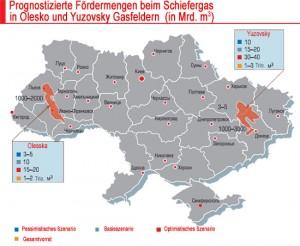 Fraking Ukraine Scheifergasmengen