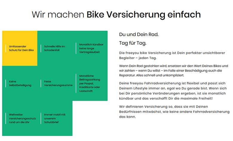 freeyou Bike Versicherung
