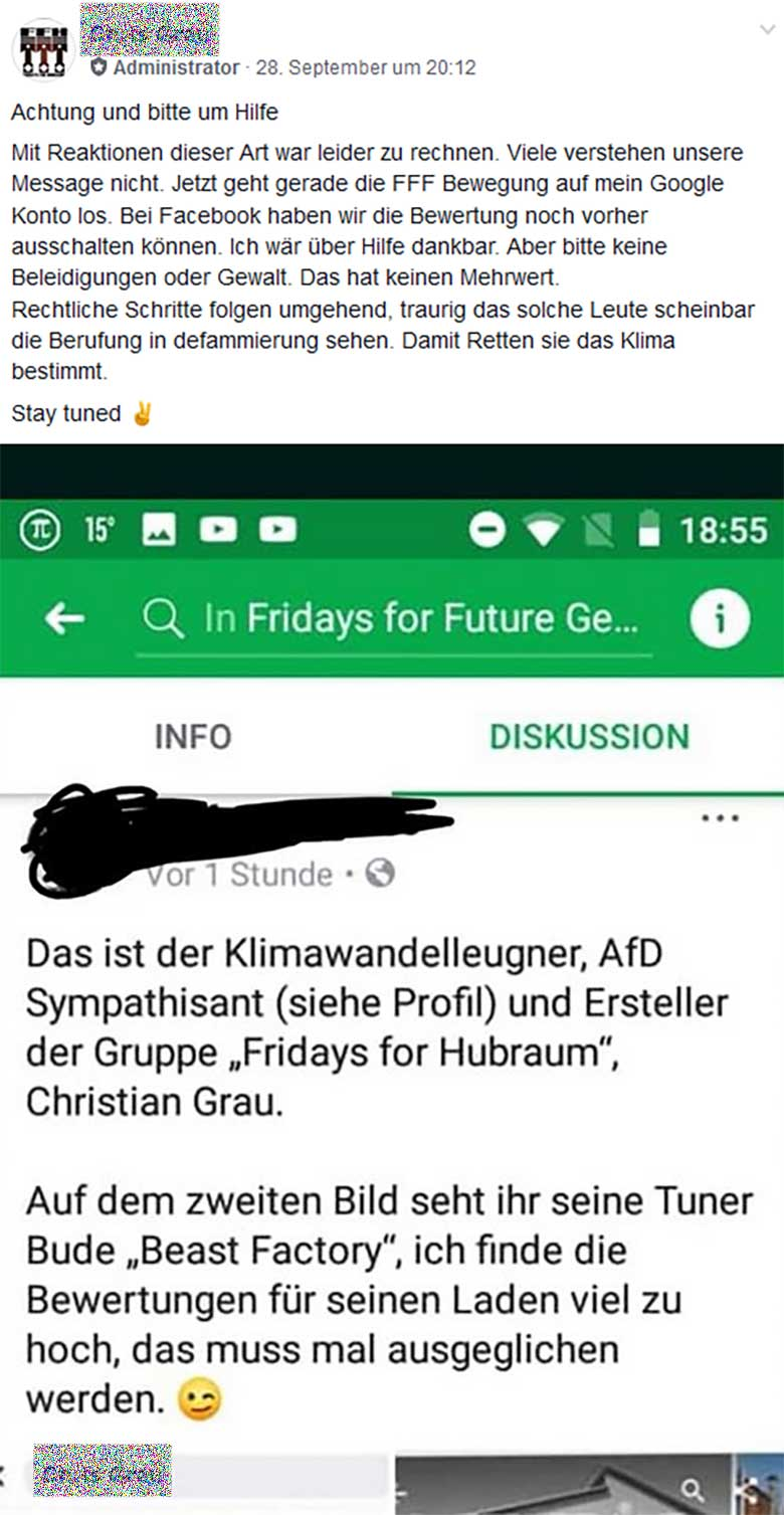 Fridays for Future vs. Fridays for Hubraum