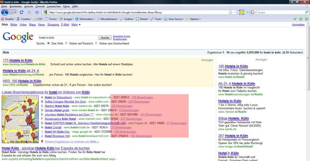 Google Branchen