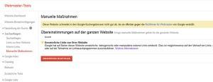 Googles Manuelle Maßnahmen
