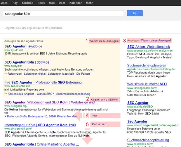 Google Suche SEO Agentur Koeln