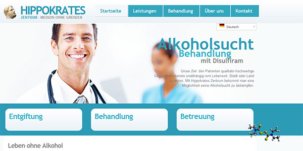 Hippokrates-Zentrum. Startseite. Mehrsprachig