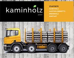 Webdesign, Content Marketing und SEO für einen Kaminholz Lieferanten