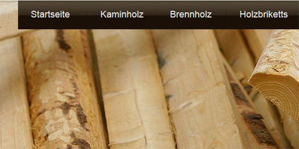 Kaminholz-Polen. Header