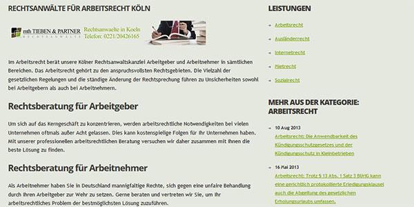 MTH-Partner Köln. Kategorieansicht