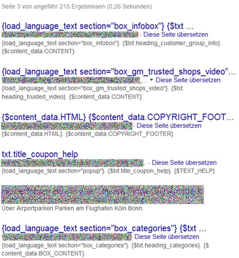 Müllseiten im Google-Index