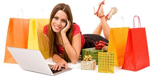 Online Shop. Zufriedene Kunden