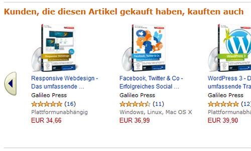Produktvorschläge. Amazon