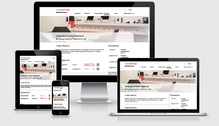 Responsive Webdesign Datacolor