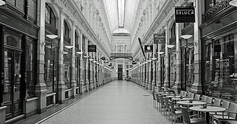 Shopping in der Einkaufspassage
