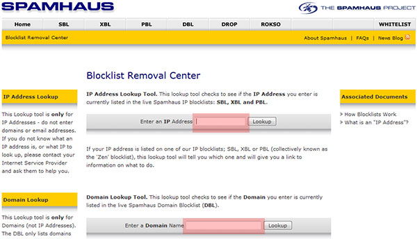Spamhaus Removal Request