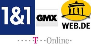 t-online, 1und1, gmx.net, web.de