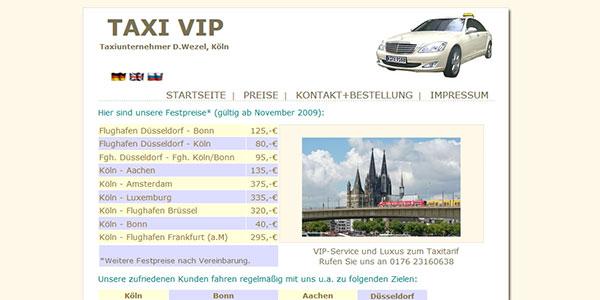 Taxi Köln. Preise, Ziele