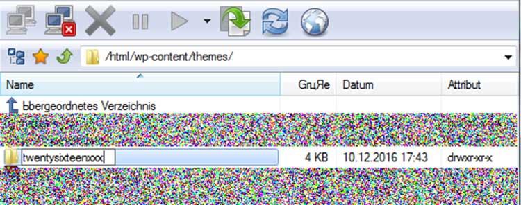 WordPress Theme per FTP deaktivieren