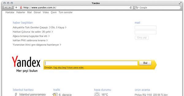 Yandex Türkei