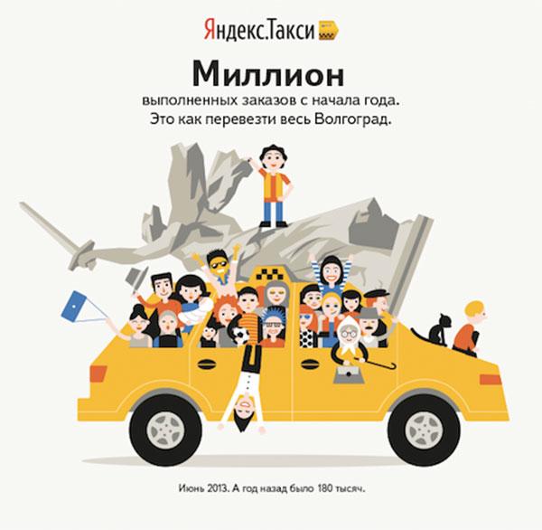 Yandex.Taxi 1 Mio. in Wolgograd